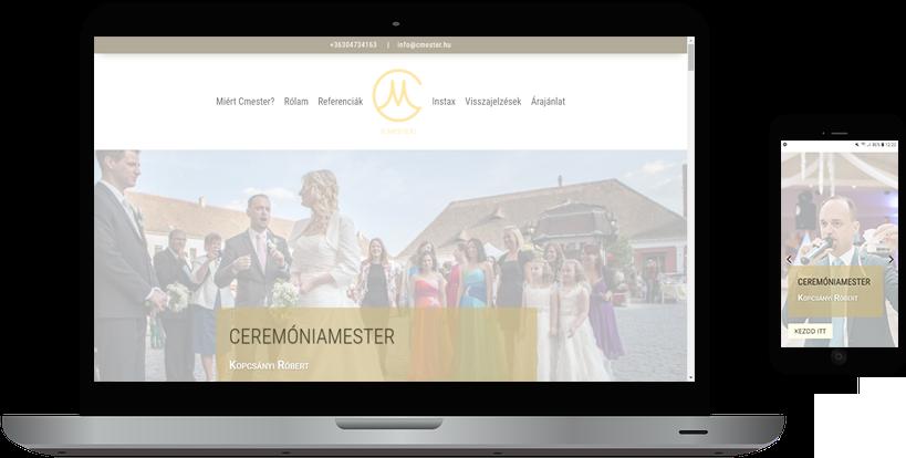 weboldal készítés cmester
